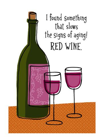 Red Wine Slows Aging Wall Decal
