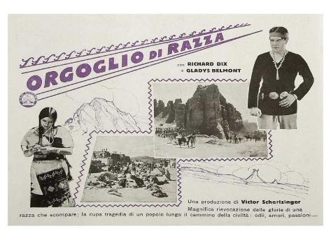 Redskin, Italian Movie Poster, 1929 Art Print