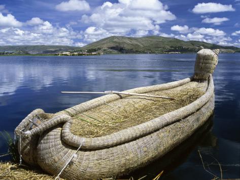 Reed Boat Uros Islands Lake Titicaca Peru Photographic Print