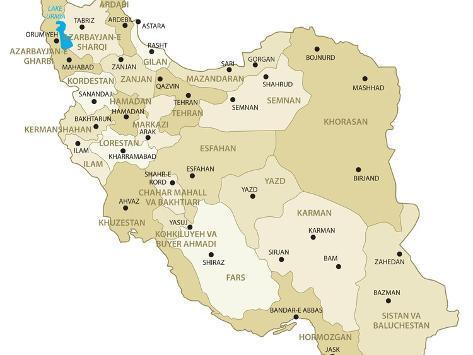 Iran Map Art Print