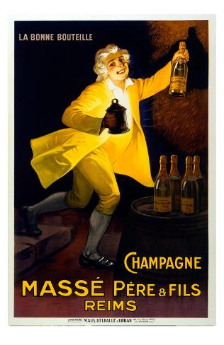 Reims French Champagne Giclee Print