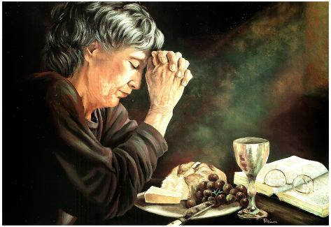 Rein Gratitude Prayer religious Art Print POSTER Jesus Póster