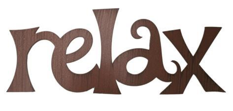 Relax Wall Sign