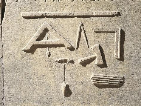 Relief with Carpenter's Tool, from Aquileia, Friuli Venezia Giulia Region, Italy Giclee Print