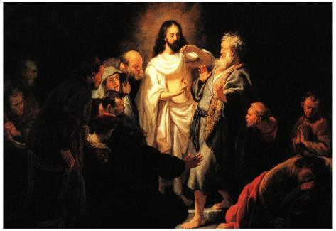 Rembrandt Christ Shows His Wound Art Print Poster Poster