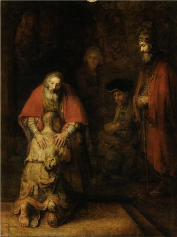 A Volta do Filho Pródigo, cerca de 1669  Impressão artística