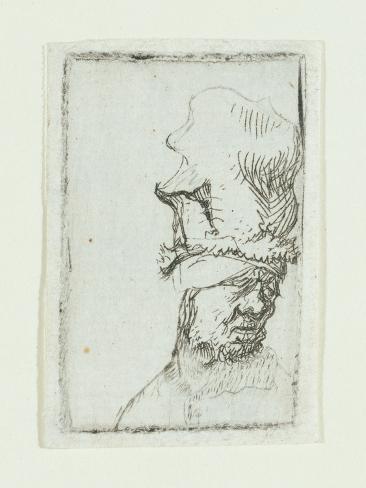 Head of a Man in a High Cap Giclee Print