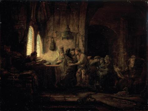 Parable of the Laborers in the Vineyard Lámina giclée