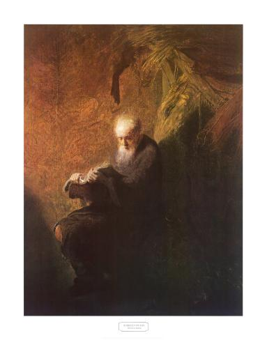 Philosopher Reading Art Print