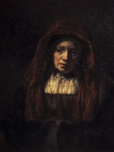 Portrait of an Old Woman Lámina giclée
