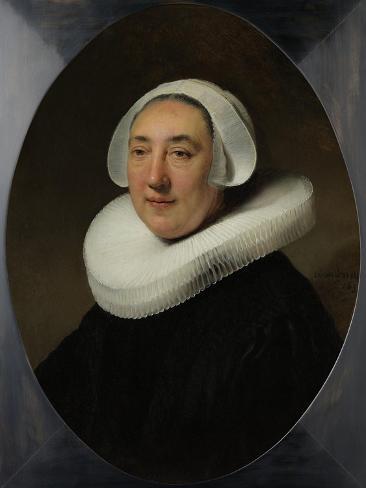 Portrait of Haesje Jacobsdr van Cleyburg, 1634 Lámina giclée