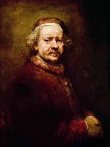 Self Portrait in at the Age of 63, 1669 Giclee Print