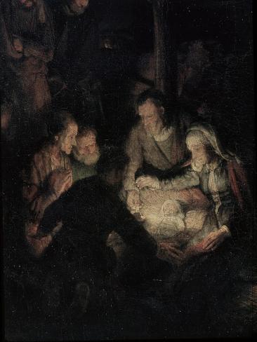 The Adoration of the Shepherds, Detail, 1646 Lámina giclée