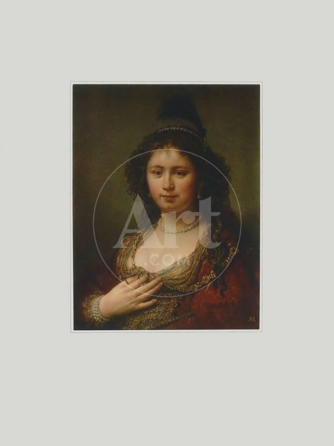 The Officers Wife Collectable Print By Rembrandt Van Rijn At