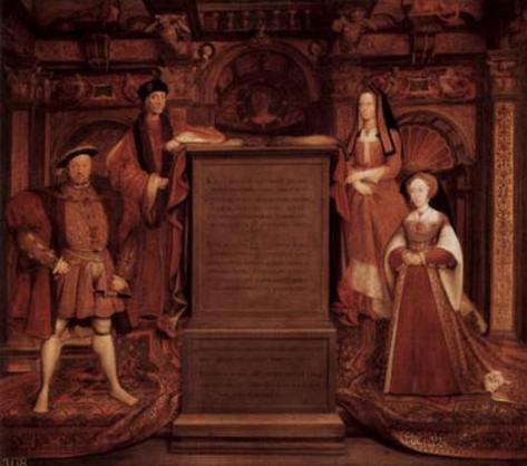 Remigius Van Leemput (Henry VII, Elizabeth of York, Henry VIII and Jane Seymour) Art Poster Print Poster