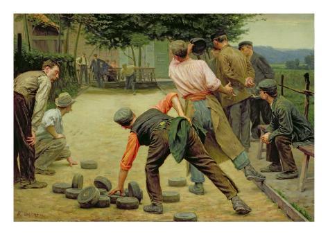 A Game of Bourles in Flanders, 1911 Lámina giclée