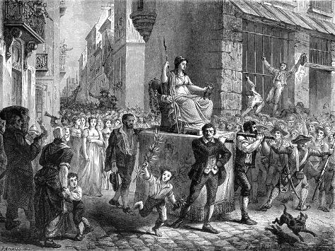 Festival of Reason, Paris, 1793 Giclee Print