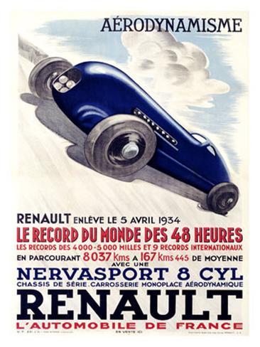 Renault Giclee Print