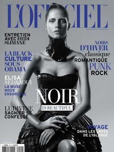 L'Officiel, November 2010 - Noir Is Beautiful, Kasia Art Print