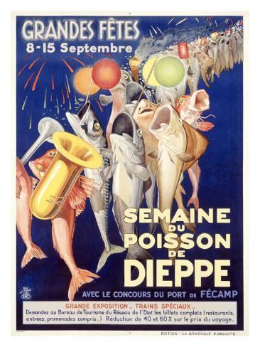 Semaine du Poisson de Dieppe Giclee Print