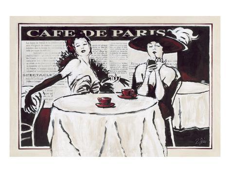 Cafe de Paris Des Dames Stampa artistica
