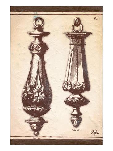 Neo Classical Door Knockers Art Print