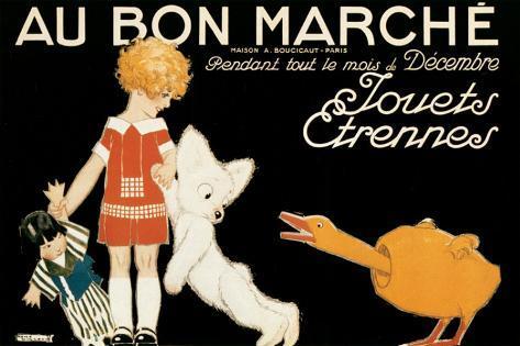 Au Bon Marche, Jouets et Etrennes Stretched Canvas Print