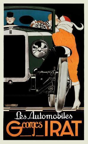 Automobiles Georges Irat Art Print