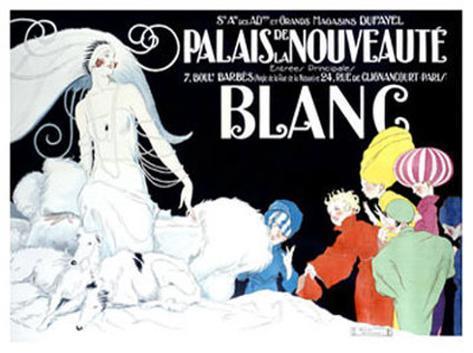 Palais de la Nouveaute, Blanc Giclee Print