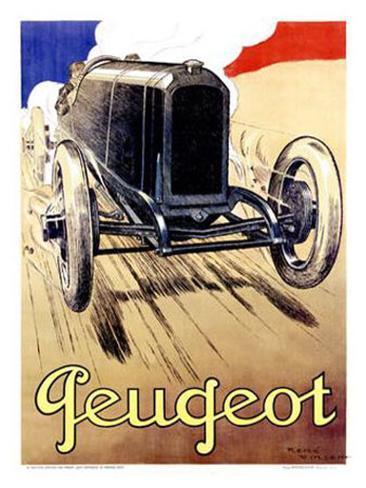 Peugeot, 1919 Giclee Print