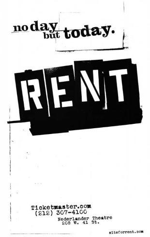 Rent broadway poster