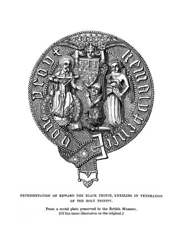 Representation of Edward, the Black Prince, Kneeling in Veneration of the Holy Trinity Lámina giclée