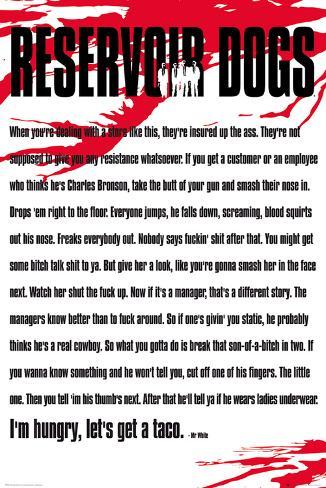 Reservoir Dogs - Mr White Poster