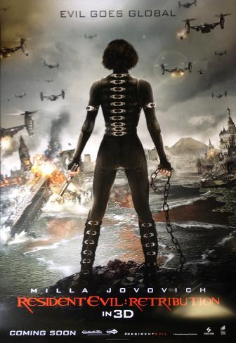 Resident Evil Retribution - International Poster Pôster dupla face