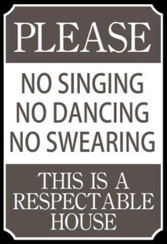 Respectable House Sign Poster Masterprint