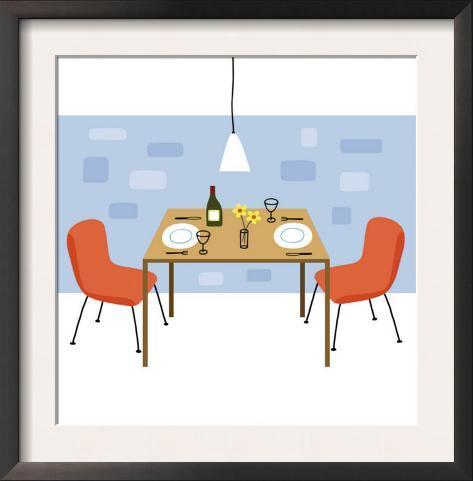 Retro dining room prints for Dining room artwork prints