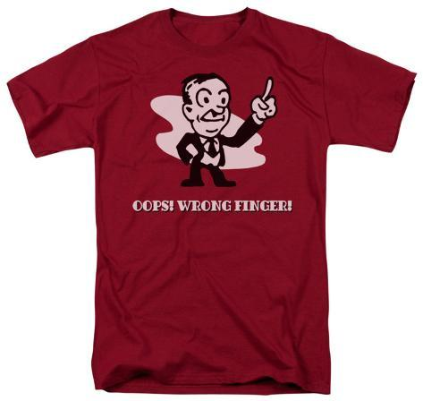 Retro - Oops! Wrong Finger T-Shirt