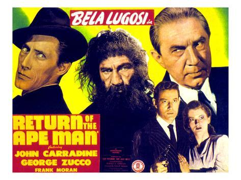 Return of the Ape Man, 1944 Stretched Canvas Print