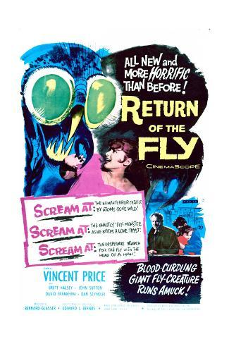 Return of the Fly - Movie Poster Reproduction Stampa artistica