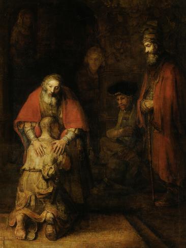 Return of the Prodigal Son, c. 1669 Art Print
