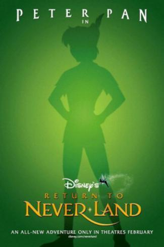 Return To Neverland Movie Poster Poster double face