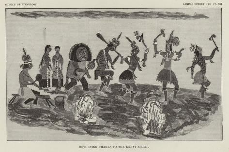 Returning Thanks to the Great Spirit Giclee Print