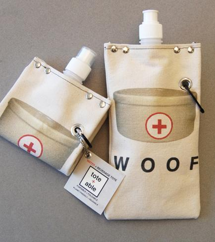 Reusable Beverage Bag: Woof 16 ounces Specialty Bags