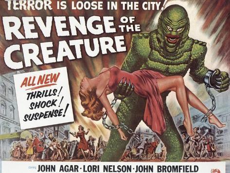 Revenge of the Creature, UK Movie Poster, 1955 Art Print