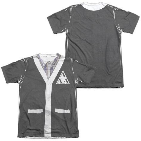 Revenge Of The Ners- Tri-Lambda Cardigan Costume Tee (Front/Back) T-Shirt