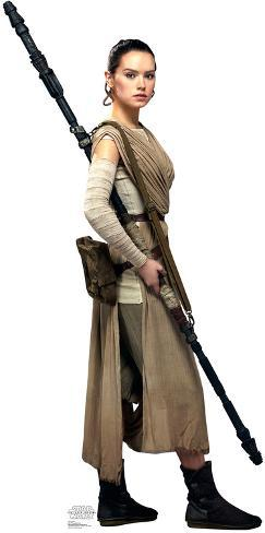 rey star wars vii the force awakens lifesize standup cardboard cutouts