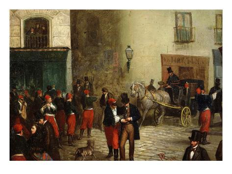 Student Scene, 1864 Stretched Canvas Print