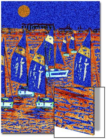 Sailboats on the Bay Art on Acrylic