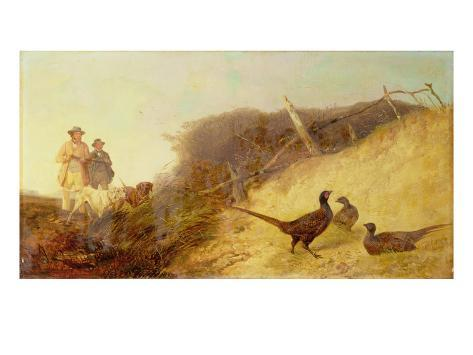 Walking Up Pheasants on the 1st of October (See also 63636) Giclee Print