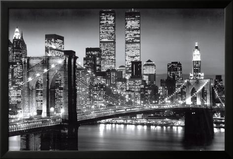 New York Manhattan Black - Berenholtz Lamina Framed Poster